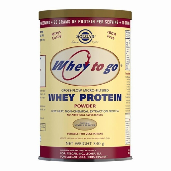 Solgar Whey To Go Whey Protein Powder Natural Vanilla Flavour 340g Protein > Solgar Whey to Go