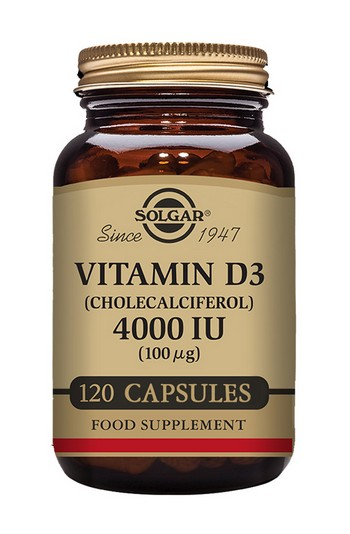 Solgar Vitamin D3 4000 IU (100 µg) Vegetable 120 Capsules Vitamins > Vitamin D3