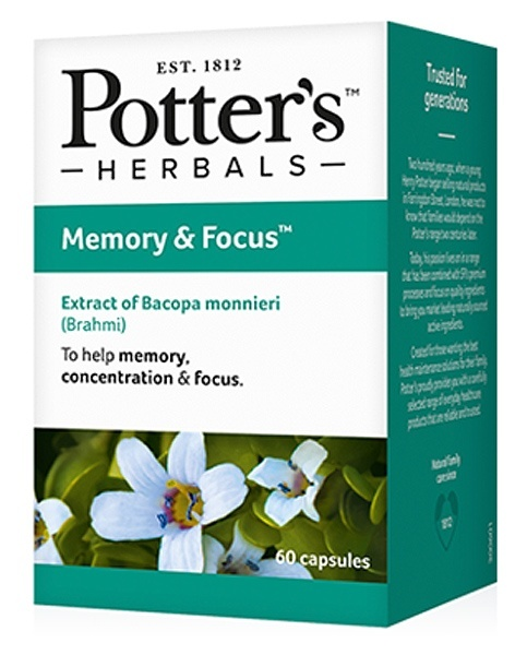 Potters Memory and Focus 60 Capsules