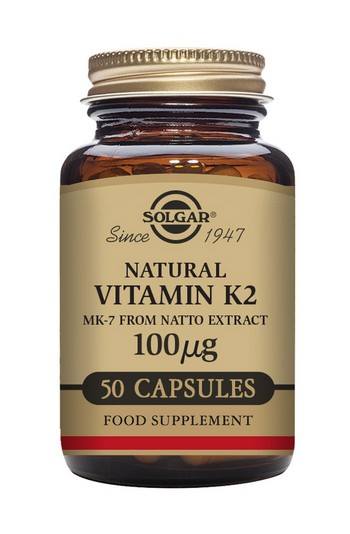 Solgar Vitamin K2 100 mcg 50 Vegetable Capsules