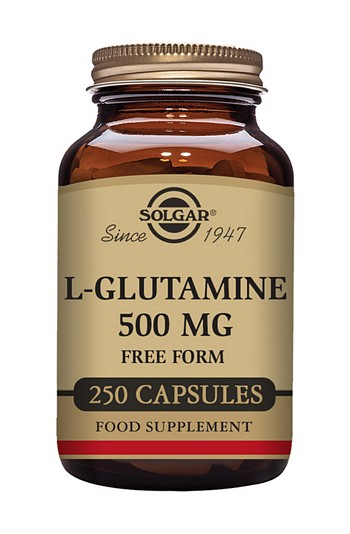 Solgar L-Glutamine 500 mg 250 Vegetable Capsules
