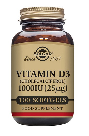 Solgar Vitamin D3 1000 IU 100 Softgels