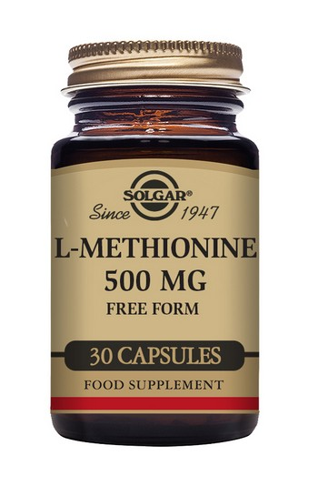 Solgar L-Methionine 500 mg 30 Vegetable Capsules