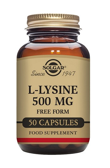 Solgar L-Lysine 500 mg 50 Vegetable Capsules