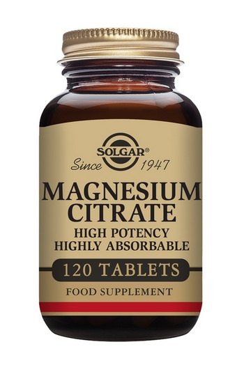 Solgar Magnesium Citrate 200 mg 120 Tablets