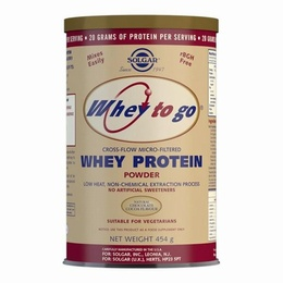 Solgar Whey To Go Whey Protein Powder Natural Chocolate Flavour 454g