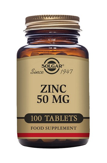 Solgar Zinc 50 mg 100 Tablets