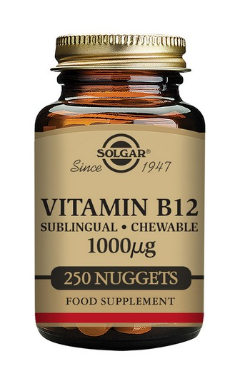 Solgar Vitamin B12 Nuggets 1000mcg Sublingual 250 Nuggets