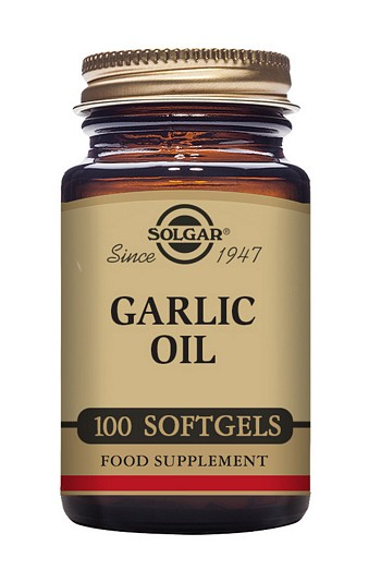 Solgar Garlic Oil 500mg Reduced Odour 100 Softgels