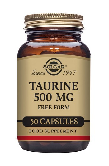 Solgar Taurine 500 mg 50 Vegetable Capsules