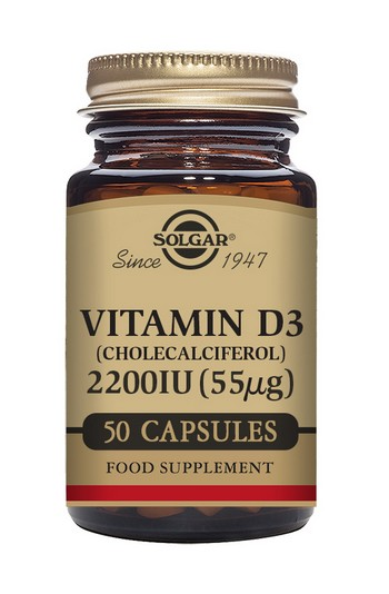 Solgar Vitamin D3 2200 IU 50 Vegetable Capsules
