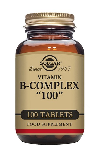 Solgar B Complex 100 mg 100 Tablets