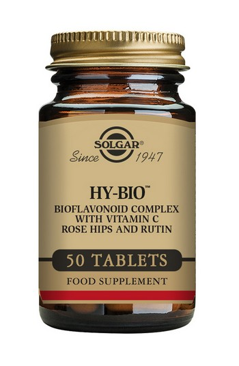 Solgar Hy-Bio 500 mg Vitamin C 50 Tablets