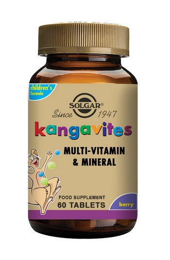 Solgar Kangavites Children's Multivitamin Chewable 60 Tablets Bouncing Berry