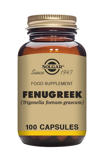 Solgar Fenugreek 520 mg 100 Vegetable Capsules