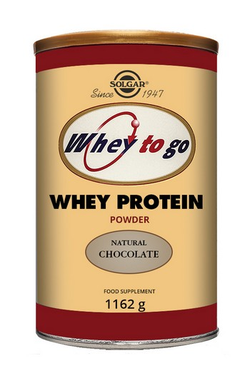Solgar Whey To Go Whey Protein Powder Natural Chocolate Flavour 1162g