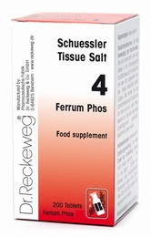 Schuessler Tissue Salt Ferrum Phos 4 - 200 tablets