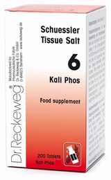 Schuessler Tissue Salt Kali Phos 6 - 200 tablets