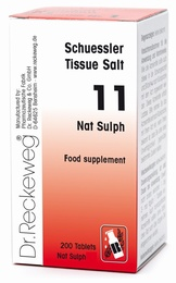 Schuessler Tissue Salt Nat Sulph 11 - 200 tablets