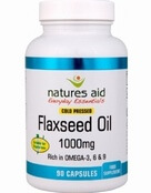 Natures Aid Flaxseed Oil 1000mg (Omega 3, 6 + 9) 135 Capsules - SPECIAL OFFER!