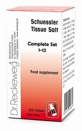 Complete set of 12 Schuessler Tissue Salts