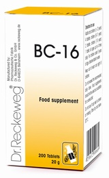 Dr Reckeweg BC-16 200 Tablets - BULK OFFER!