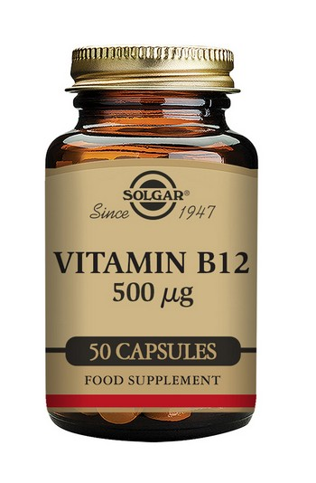 Solgar Vitamin B12 500mcg 50 Vegetable Capsules
