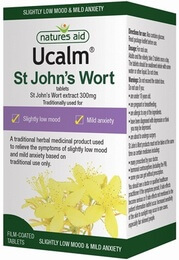 Natures Aid Ucalm St John's Wort Extract 300mg 120 Tablets (Licensed)