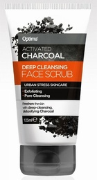 Optima Activated Charcoal Purifying Face Scrub 125ml
