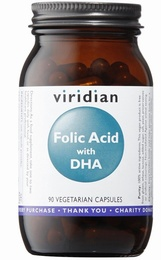 Viridian Folic Acid with DHA 90 Vegetable Capsules