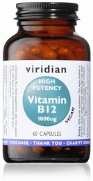 Viridian High Potency Vitamin B12 60 Vegetable Capsules