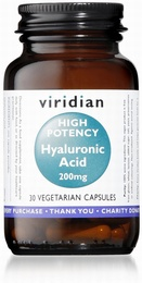 Viridian Hyaluronic Acid 200mg 30 Vegetable Capsules
