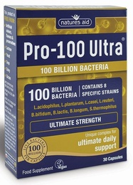 Natures Aid Pro-100 Ultra 30 Vegetable Capsules