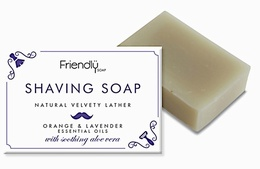 Friendly Soap SHAVING SOAP – ORANGE & LAVENDER 95g