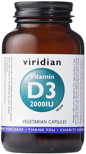 Viridian Vitamin D3 2000iu (Vegan) 150 Vegetable Capsules