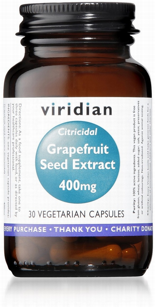 Viridian Grapefruit Seed Extract 400mg 30 Vegetable Capsules