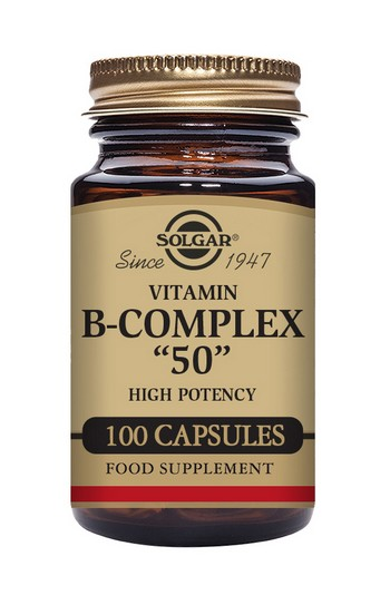 Solgar B Complex 50 mg 100 Vegetable Capsules