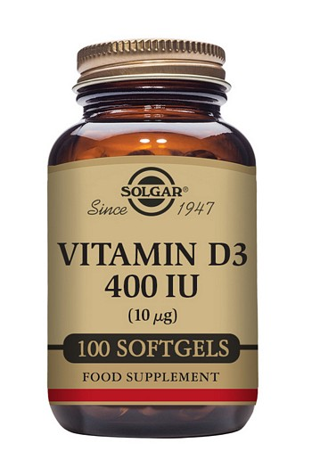 Solgar Vitamin D3 400 iu 100 Softgels