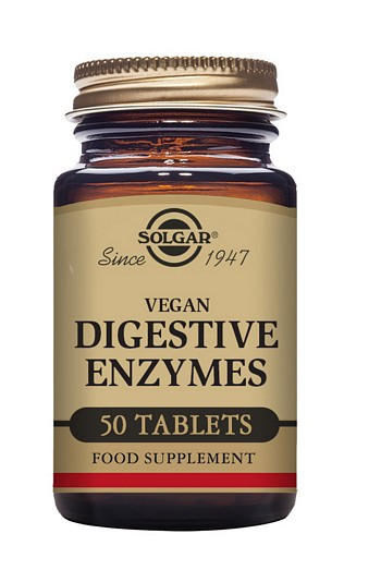 Solgar Chewable Vegan Digestive Enzymes 50 Tablets