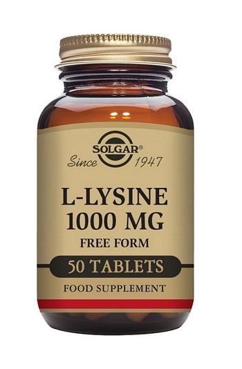 Solgar L-Lysine 1000 mg 50 Tablets