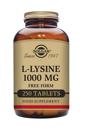 Solgar L-Lysine 1000 mg 250 Tablets