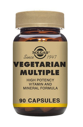 Solgar Vegetarian Multiple Multivitamin 90 Vegetable Capsules