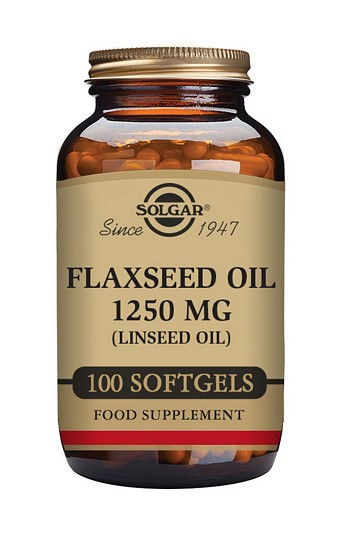 Solgar Flaxseed Oil 1250 mg 100 Softgels