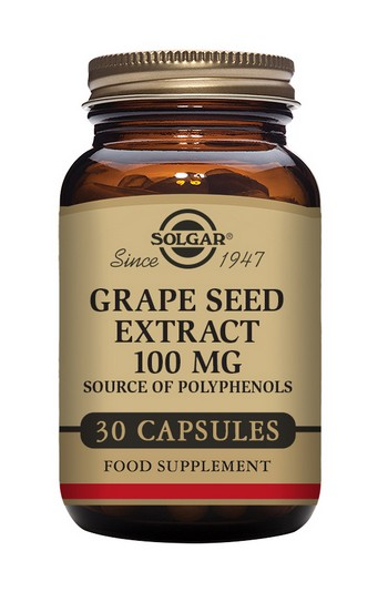 Solgar Grape Seed Extract 100 mg 30 Vegetable Capsules