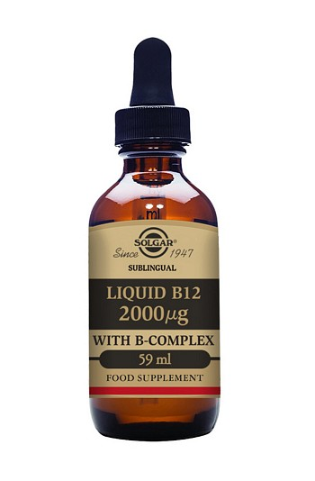 Solgar Liquid B-12 2000mcg with B-Complex 59 ml