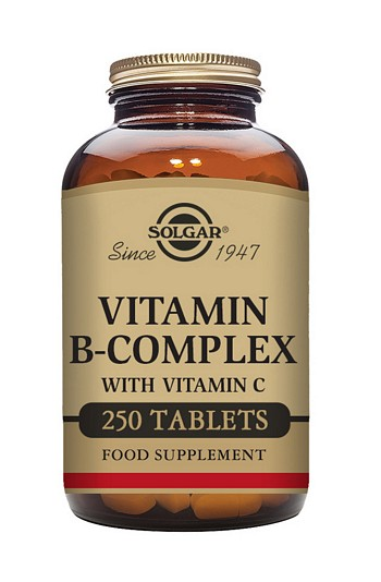 Solgar B Complex with Vitamin C 500 mg 250 Tablets