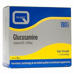Quest Glucosamine Sulphate 1500mg 180 Tablets (2 X 90 Tablets TWIN PACK) - SPECIAL OFFER