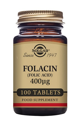 Solgar Folacin 400mcg  (Folic Acid) 100 Tablets