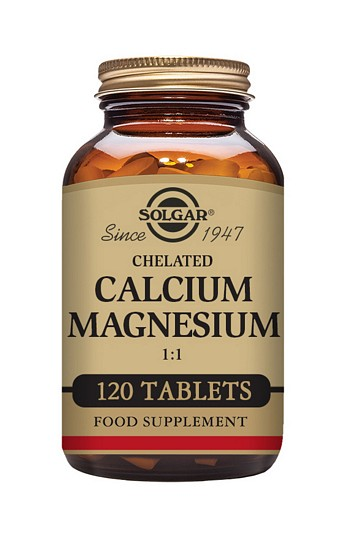 Solgar Chelated Calcium Magnesium 1:1 120 Tablets