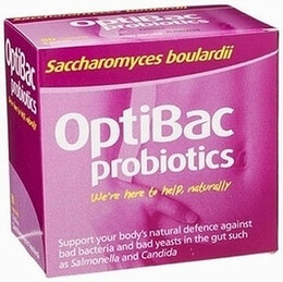Optibac Saccharomyces boulardii 16 Vegetable Capsules
